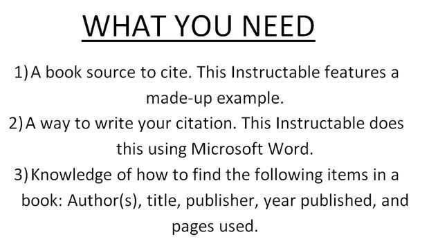 How to Cite a Book in Turabian Format (Bibliography and Footnote ...