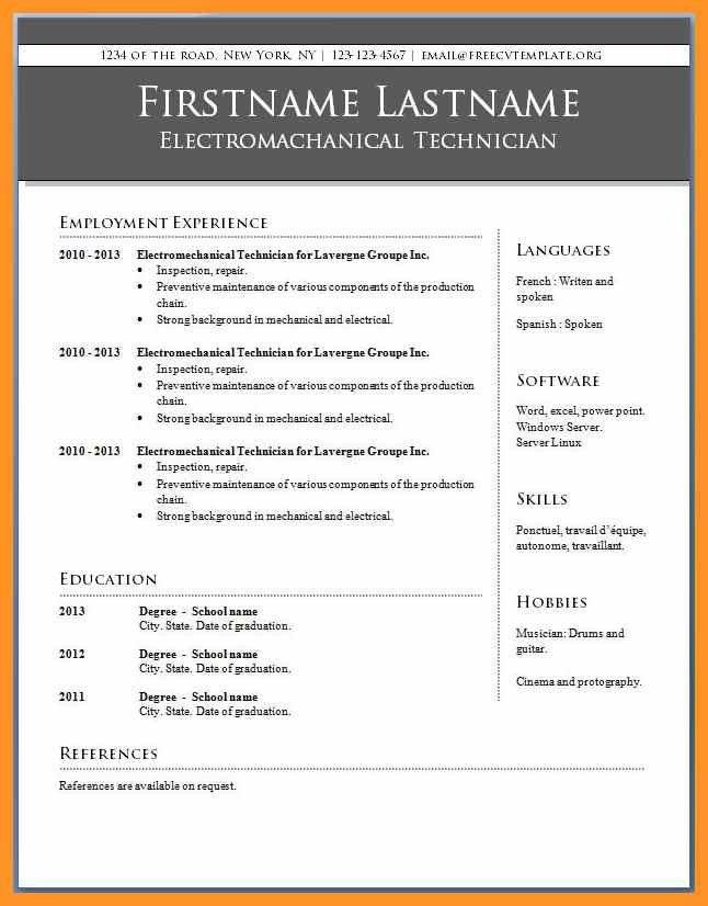 microsoft publisher resume templates bio letter format - Microsoft Publisher Resume Templates