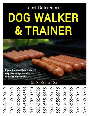 Promote your dog walking business using this flyer with tear off ...