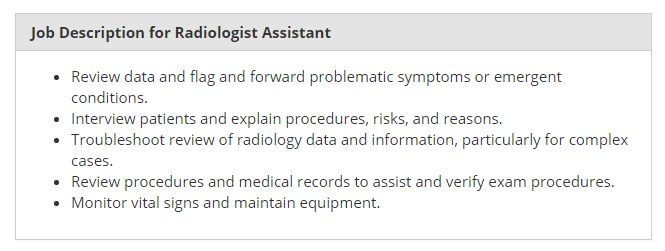 Radiologist Assistant | Salary, Programs, Requirements