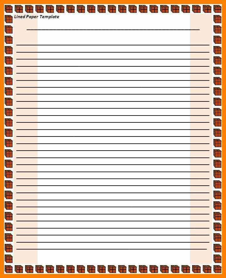 Lined Border Paper, 16+ word lined paper templates free download ...