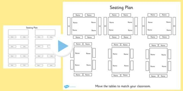 Table Seating Plan PowerPoint - table, seating plan