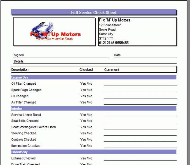 Onyx Garage Invoice System V2