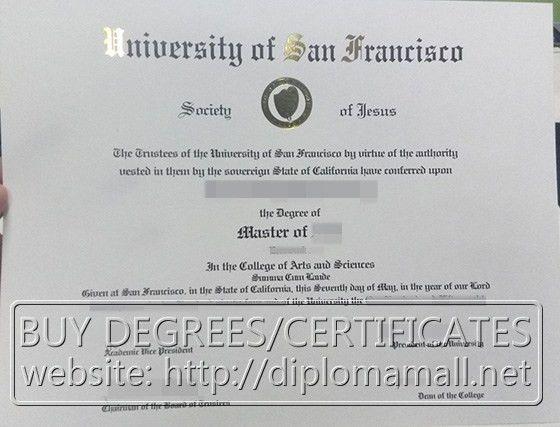 University of San Francisco certificate. buy degree, buy masters ...