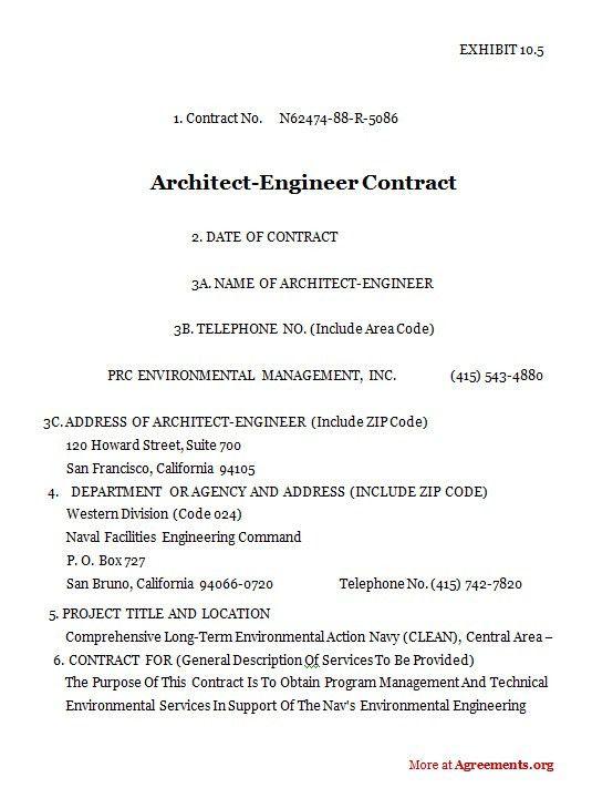 Architectural Services Agreement | Akioz.com