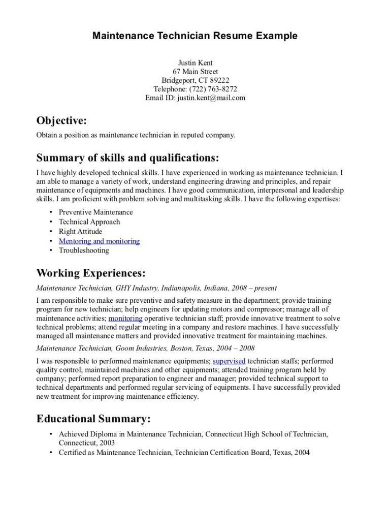 Plush Design Ideas Maintenance Manager Resume 9 ...