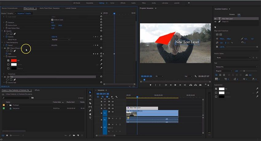 Five New Features in Premiere Pro CC 2017 (April Spring Update ...