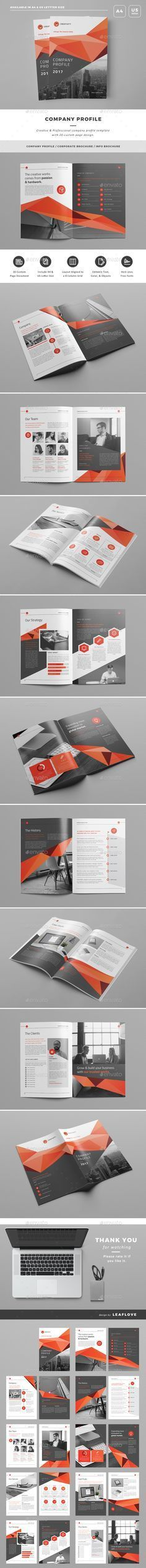 Company Profile Template InDesign INDD | Company Profile Design ...