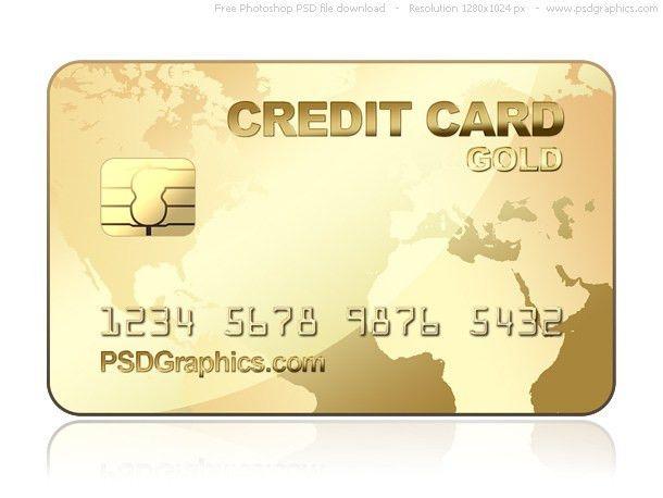 PSD gold credit card template   PSDGraphics