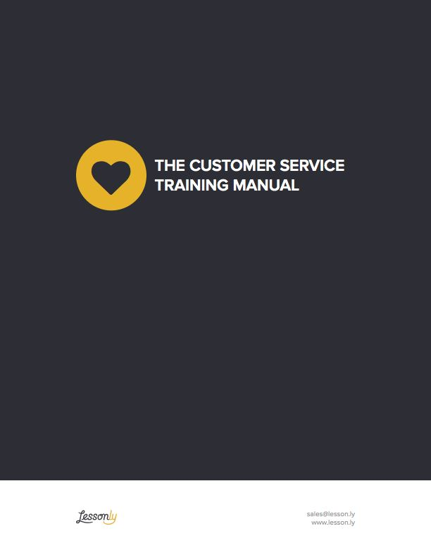 FREE Customer Service Training Manual Template #CustServ - Lessonly
