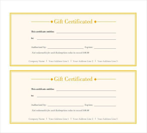 Gift Certificate Template - 42+ Examples in PDF, Word In Design ...