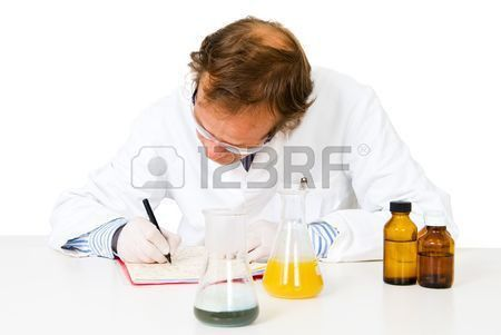 Chemical Analyst Taking Notes After Concluding His Experiments ...