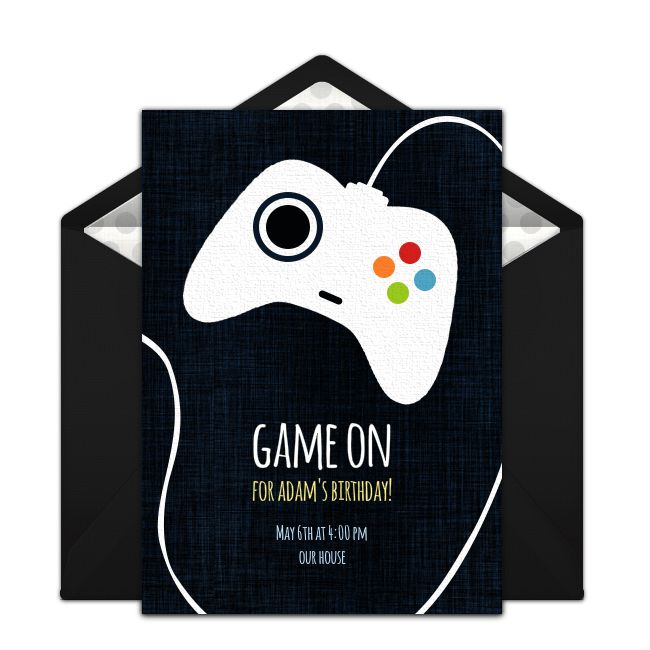 Free Game Controller Invitations | Free birthday invitations ...
