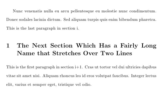 sectioning - Double-spaced paragraphs, single-spaced headers - TeX ...