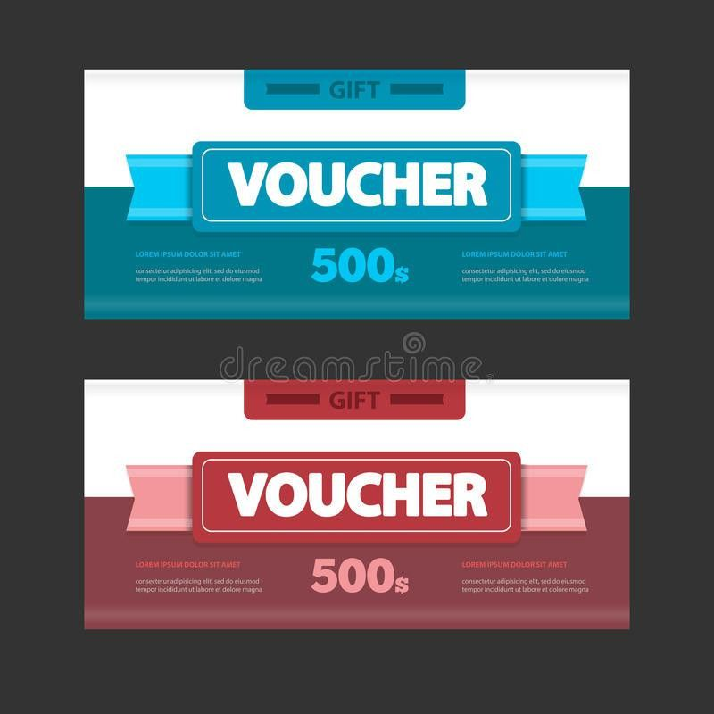 Two Coupon Voucher Design. Gift Voucher Template With Amount Of ...