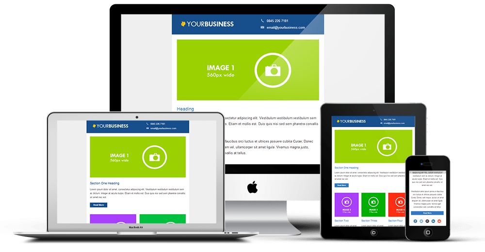 Responsive Email Template Library | Choose an Email Template