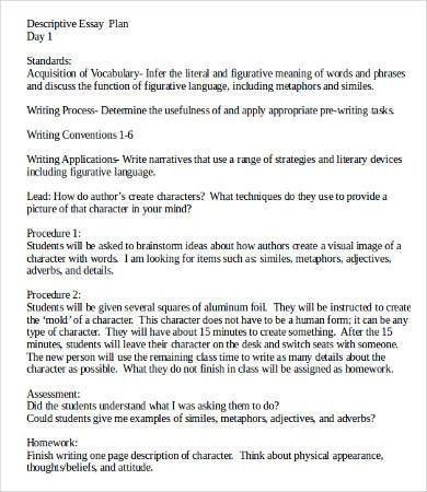 Descriptive Essay Template - 8+ Free Word, PDF Documents Download ...