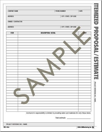 13 Best Images of Printable Construction Bid Forms - free ...