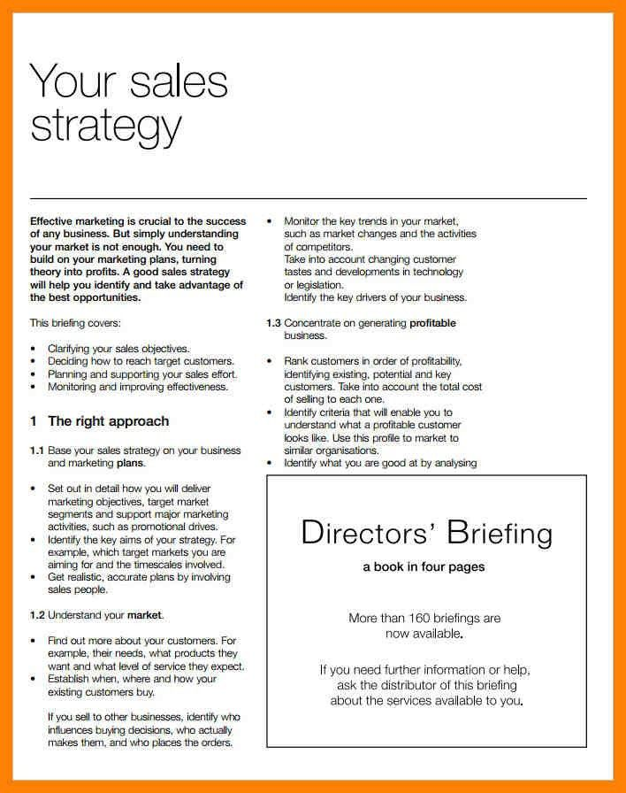 sales strategy plans