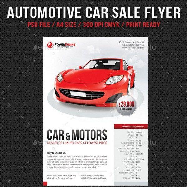 25+ Best Car Sale, Repair, Wash Flyer Templates