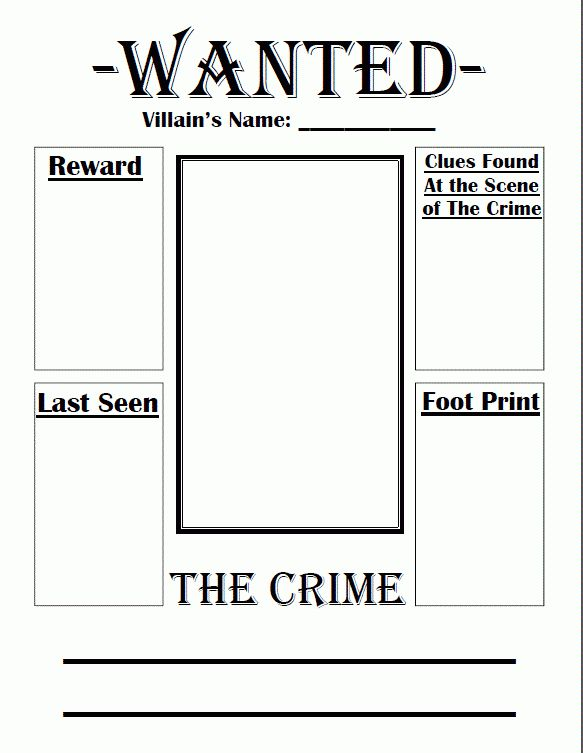 Fairy Tale Wanted Poster | Crafts | Pinterest | School ...