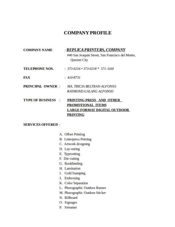 18+ Simple Company Profile Template - Free Word Format Download
