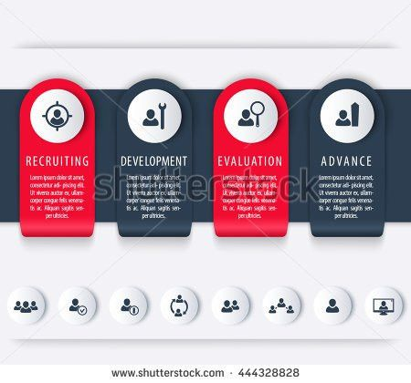 Staff Hr Employee Development Timeline Template Stock Vector ...