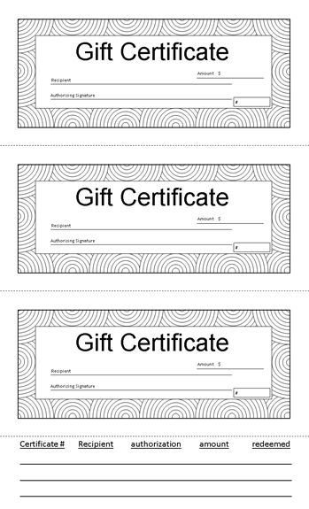 Gift Certificates | Ready-Made Office Templates
