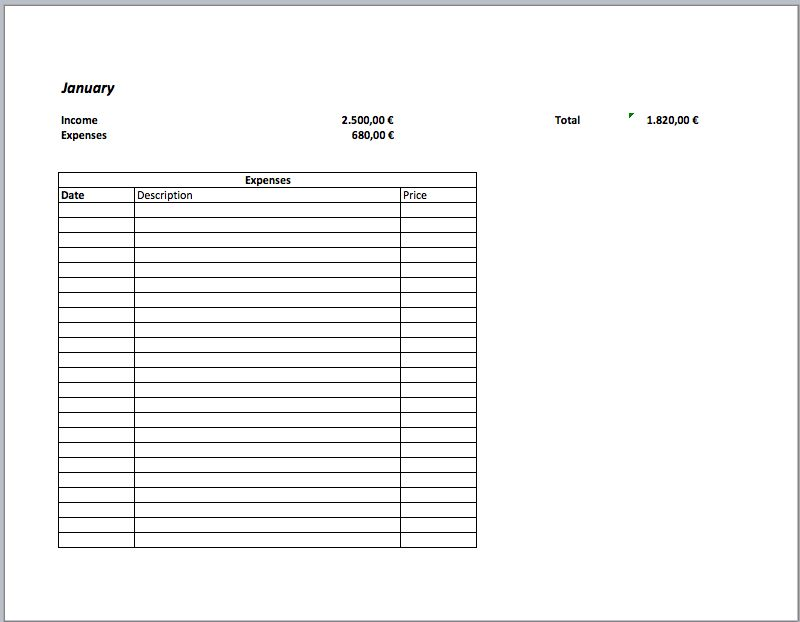 budget   Excel Templates for every purpose