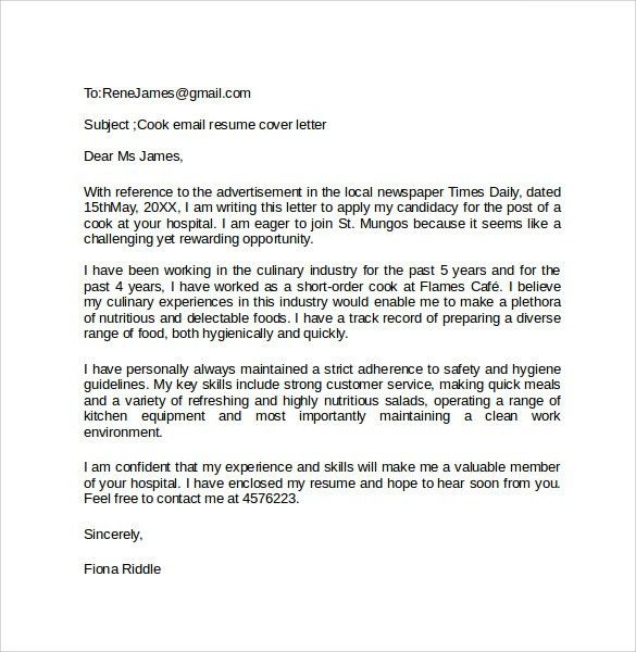 email cover letter template email application letter sample cover ...