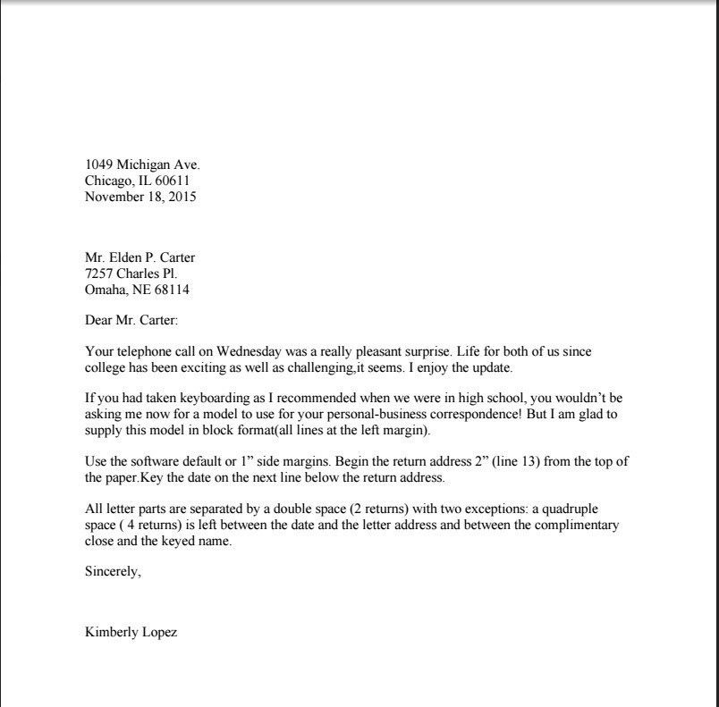 Is A Business Letter Double Spaced | The Best Letter Sample