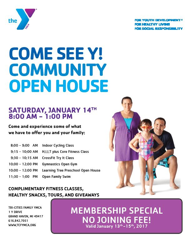 Come See The Y! Community Open House January 14th from 8am - 1pm ...