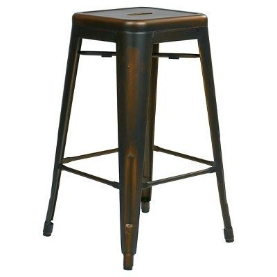 "Osp Designs Bristow 26"" Barstool Antique Metal (Set of 2) - Office ..."