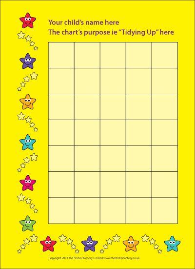 10 Best Images of Classroom Star Chart Sticker - Blank Sticker ...