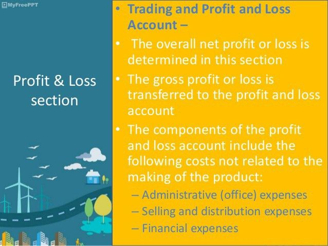 Preparation of trading, profit and loss of a manufacturer