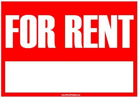 For Rent Sign - Free Printable - AllFreePrintable.com