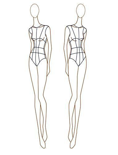 13 best Fashion Croquis images on Pinterest | Fashion figures ...