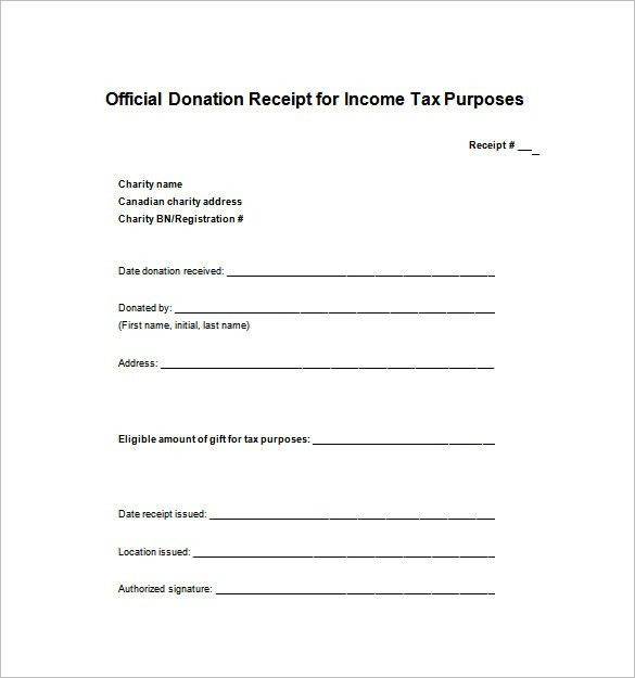 Tax Donation Receipt Template , Receipt Template Doc for Word ...