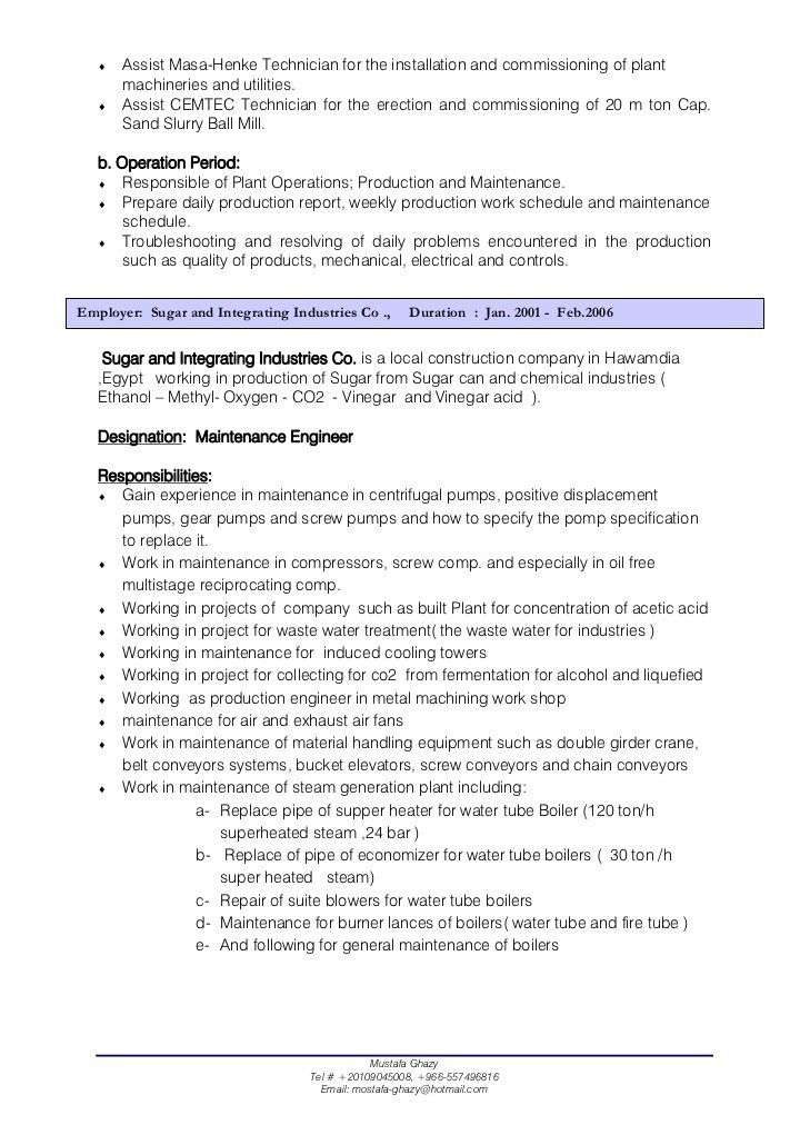 Download Product Safety Engineer Sample Resume ...