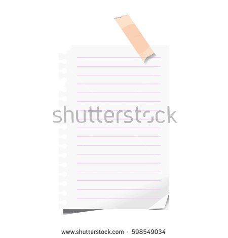 Blank Paper Sheet Squared Lined School Stock Vector 598549037 ...