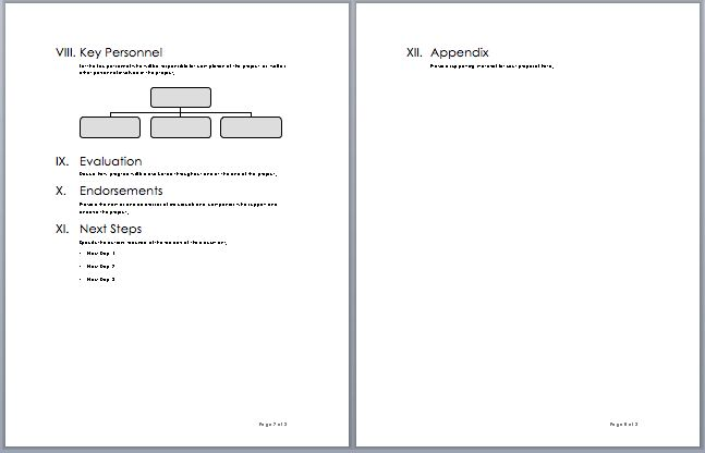 Project Proposal Template – Microsoft Word Templates