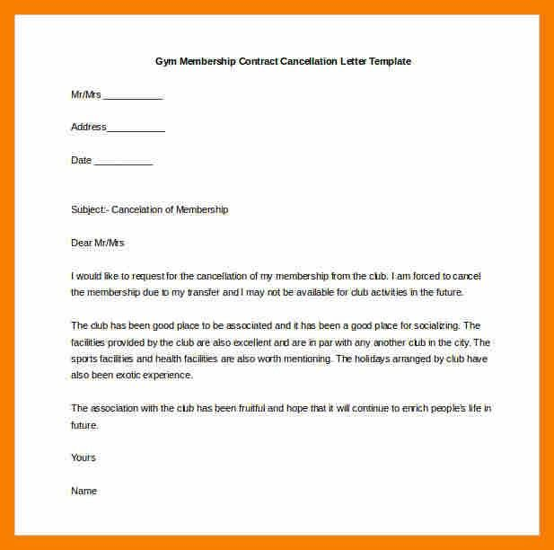 6+ gym cancellation letter | biology resume