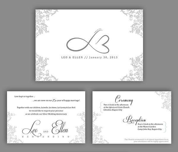 21+ Wedding Anniversary Invitation Card Templates Which Will Melt ...