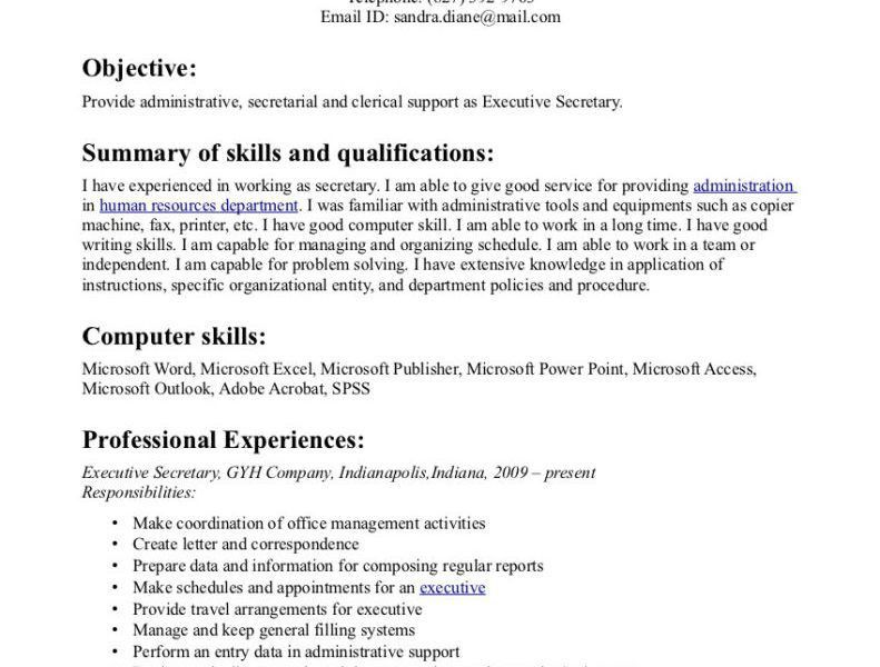 download secretary objective for resume examples - Secretary Objective For Resume Examples