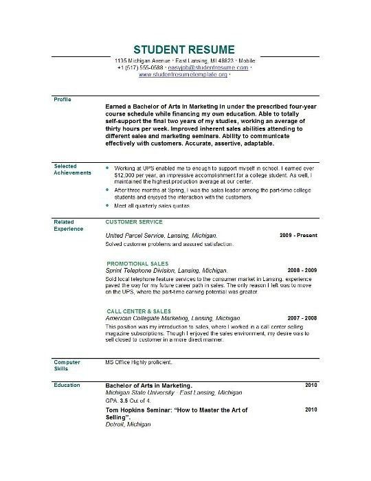 Sample Resume For Recent College Graduate With No Experience ...