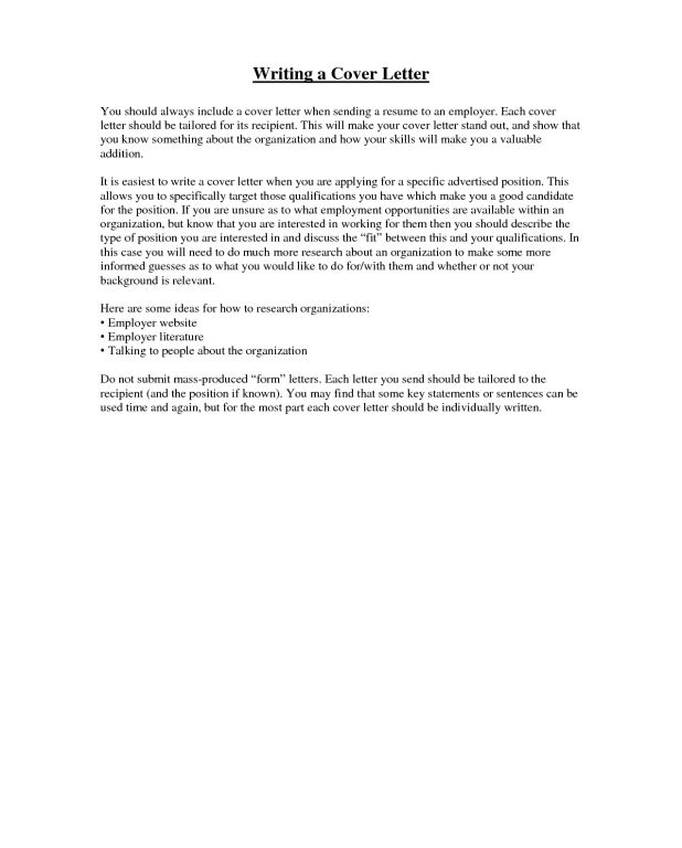 What To Include In Cover Letter - CV Resume Ideas
