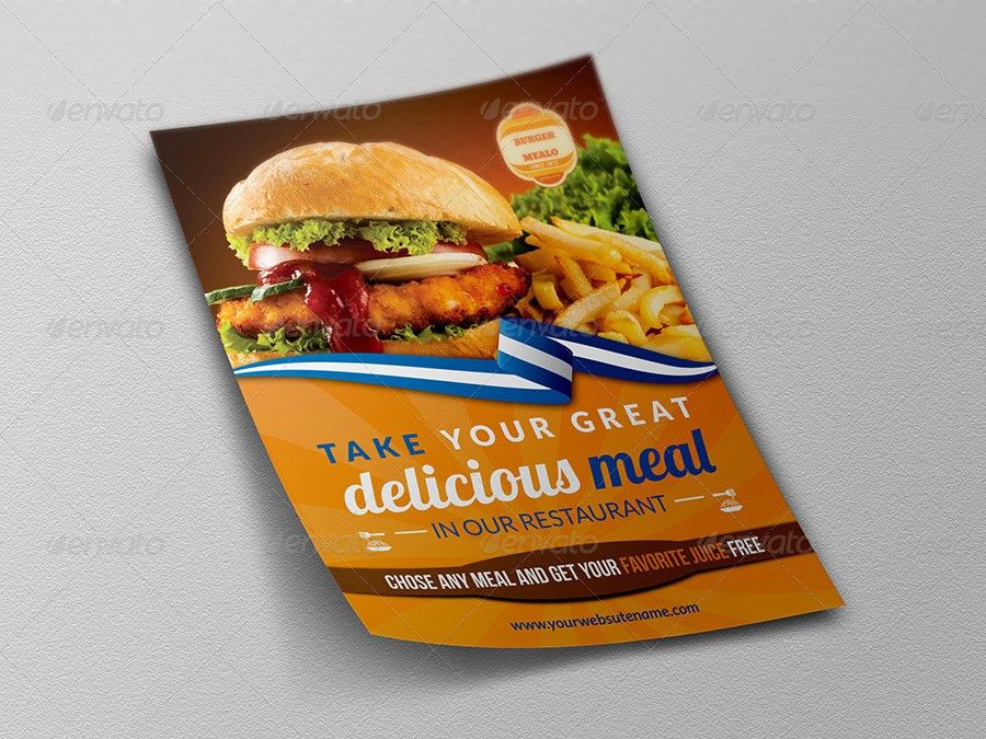 Burger Restaurant Flyer Template by OWPictures | GraphicRiver