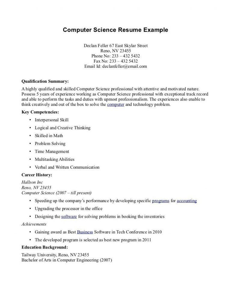 Science resume examples - cronjob.billybullock.us'
