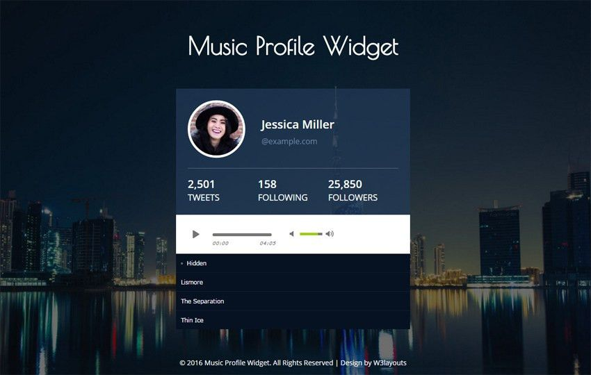 Music Templates - w3layouts.com