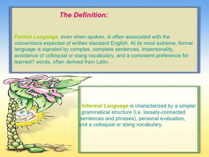 Formal and informal language2
